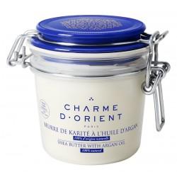Beurre de karité à l'argan non parfumé - Pot terrine 200g