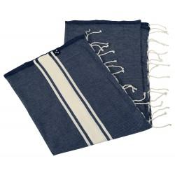 Foutha Bleu Profond - 200 x 100 cm
