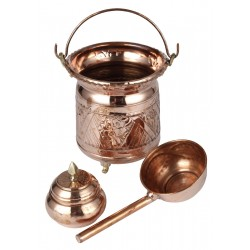 "Small Model Kit : Hammam Bucket, Tassa with Handle and ""Rassoulette"""
